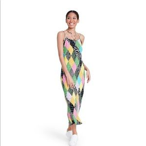 NWT rixo x target patchwork sleeveless slip dress